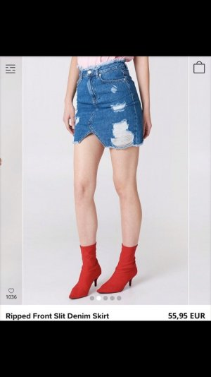 Jeans Mini Rock von Nakd / Grösse 38