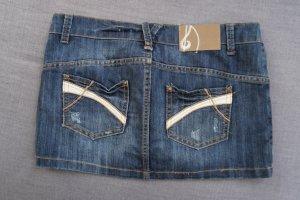 Jeans Mini Stradivarius, Gr. 36, aus Spanien, Minirock, used Look