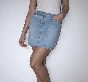 Jupe en jeans bleu azur