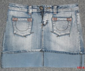 Jeans-Minirock dunkel - Karma Denim - Größe M