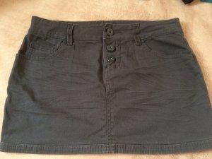 Jeans-Minirock dunkelgrau