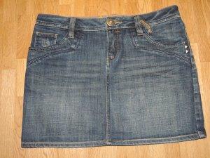Jeans Minirock gr. 36 Dunkelblau Denim wie neu