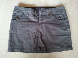 Jeans Minirock in grau