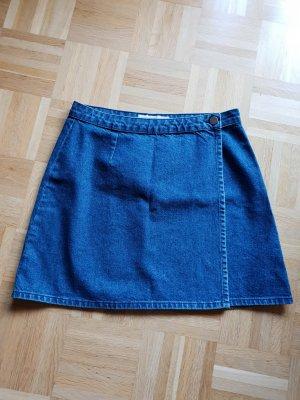 Jeans-Minirock in Wickel-Optik