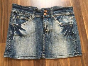 Jeans Minirock / Jeansrock mit Waschung