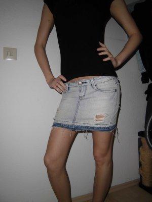 Jeans Minirock UsedLook