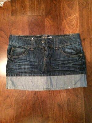 Jeans Minirock- Zweifarbig