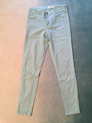 Jeans mint, Zara, 38, knöchellang, Stretch, mit Zippern an den Beinenden