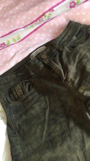 Zara Trafaluc Jeans 7/8 kaki-brun
