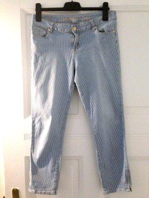 Jeans mit feinen Streifen von Montego, Gr. 38 (passt auch Gr. 40)
