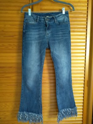 Jeans stretch bleu pâle-bleu coton