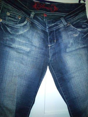 Stretch jeans blauw Gemengd weefsel