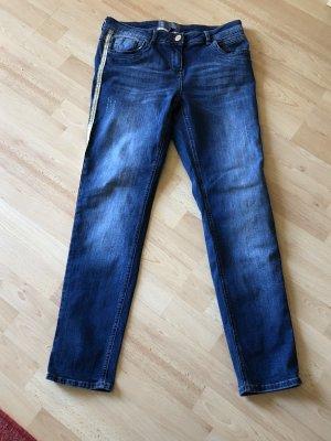Jeans mit goldenen Streifen Cecil