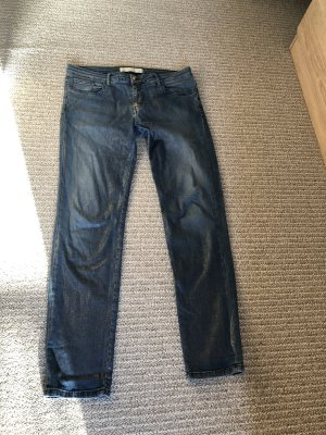 75 Faubourg Boyfriend Jeans gold-colored-steel blue