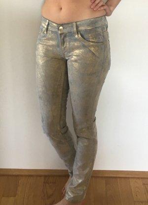Jeans mit Goldschimmer