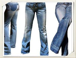 Jeans mit Gürtel, Größe 28, NEU