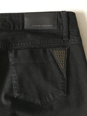 Jeans mit Leder Applikationen von Victoria Beckham