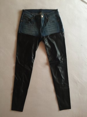 Jeans mit Lederimitat