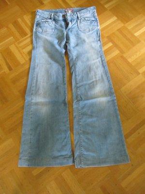H&M Jeans a zampa d'elefante blu Cotone