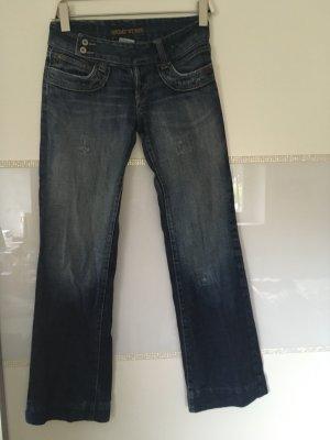 G&S Jeans a zampa d'elefante multicolore