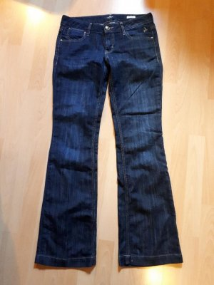 Tom Tailor Denim Flares dark blue mixture fibre