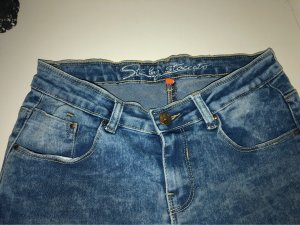 Staccato Lage taille broek wit-korenblauw