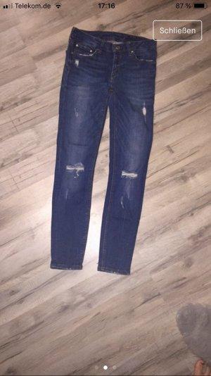 Zara Drainpipe Trousers steel blue