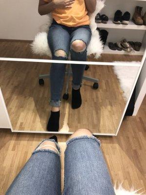 H&M Hoge taille jeans azuur-leigrijs