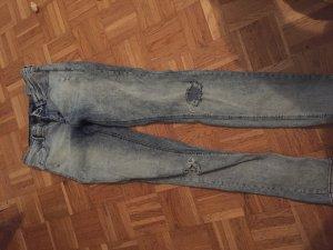 Hoge taille broek grijs
