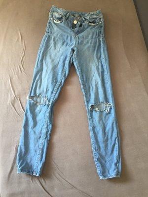 H&M Low Rise Jeans light blue