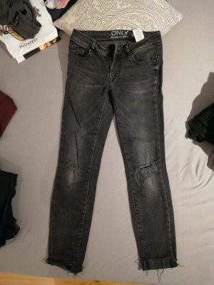 Only Low Rise jeans antraciet