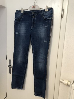 Blue Fire Jeans stretch gris clair-bleu