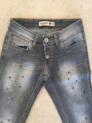 Jeans slim gris clair
