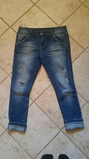 Jeans mit Nieten ,  Gr.28 ,