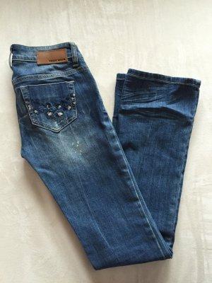Jeans mit Pailetten dunkelblau