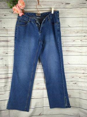 Jeans mit Pailletten am Knöchelausschnitt John F. Gee