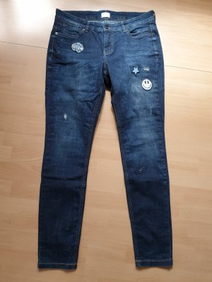 Mac Skinny jeans donkerblauw Katoen