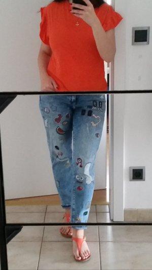 Zara Trafaluc Vaquero estilo zanahoria azul claro