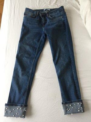 Zara Basic 7/8-jeans blauw