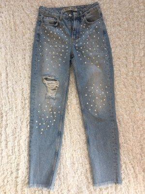 Jeans mit Perlen und Nieten von Denim Co.