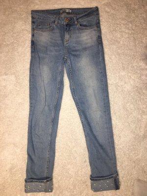 Zara Low Rise Jeans steel blue