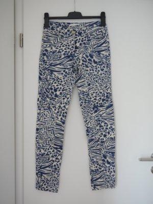 Jeans mit Print und hohem Bund