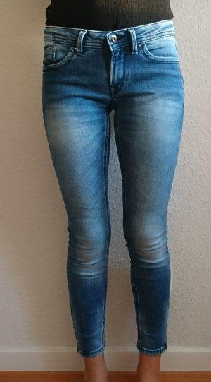 Jeans mit Reißverschluss am Bein, used Look, edc by Esprit, Gr. 34