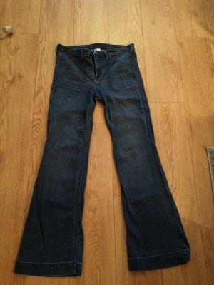 H&M Jeans a zampa d'elefante blu scuro