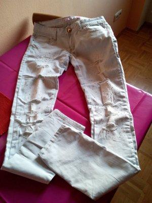 Jeans mit spitze mit strass