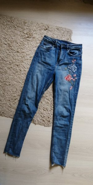 HM High Waist Jeans multicolored