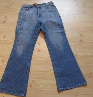Jeans mit Stickerei, Gr. 42/XL, Neu