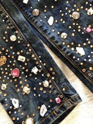 Jeans slim bleu foncé-bleu