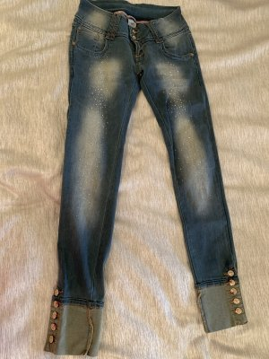 Jeans stretch bleu azur
