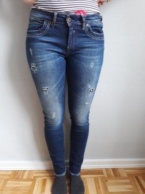 Jeans mit Strass von Brandalism, Gr. 28